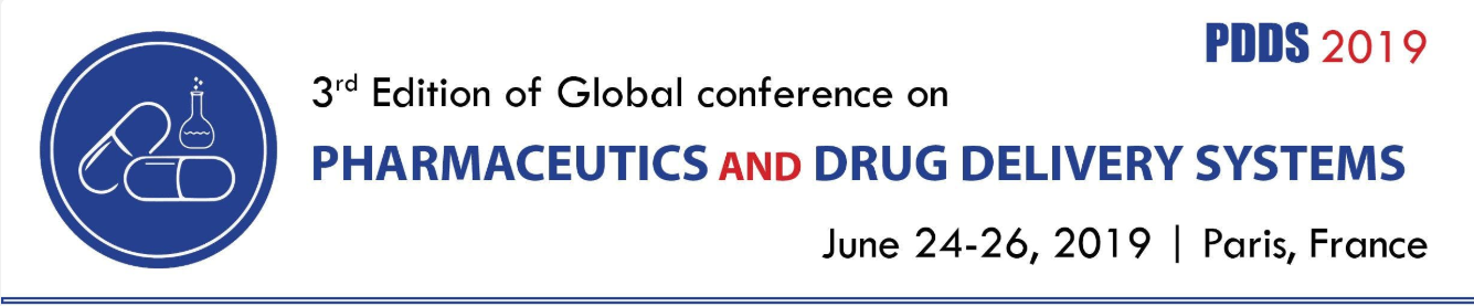 3rd Edition of Global Conference on Pharmaceutics and Drug Delivery Systems 2019 - Holiday Inn Paris - Marne la Vallee 2 Boulevard du Levant, Noisy-le-Grand Paris, Ile-de-France, France