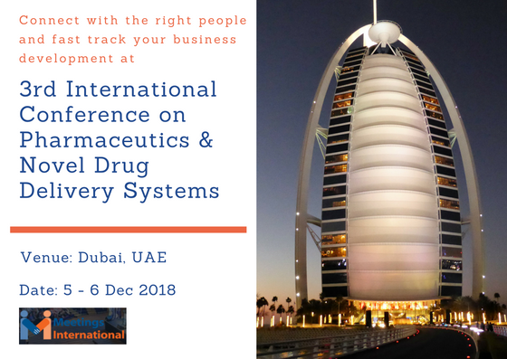 3rd International Conference on Pharmaceutics and Novel Drug Delivery Systems - Dubai, UAE