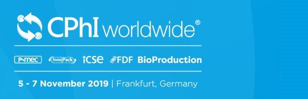 CPhI Worldwide 2019 - Messe Frankfurt GmbH Ludwig-Erhard-Anlage 1 60327 Frankfurt am Main Germany