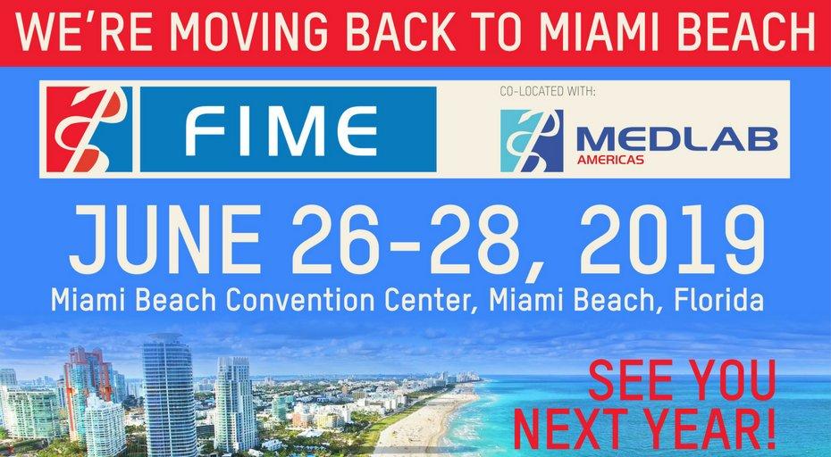 Florida International Medical Expo 2019 - Miami Beach Convention Centre, Miami Beach, FL, USA