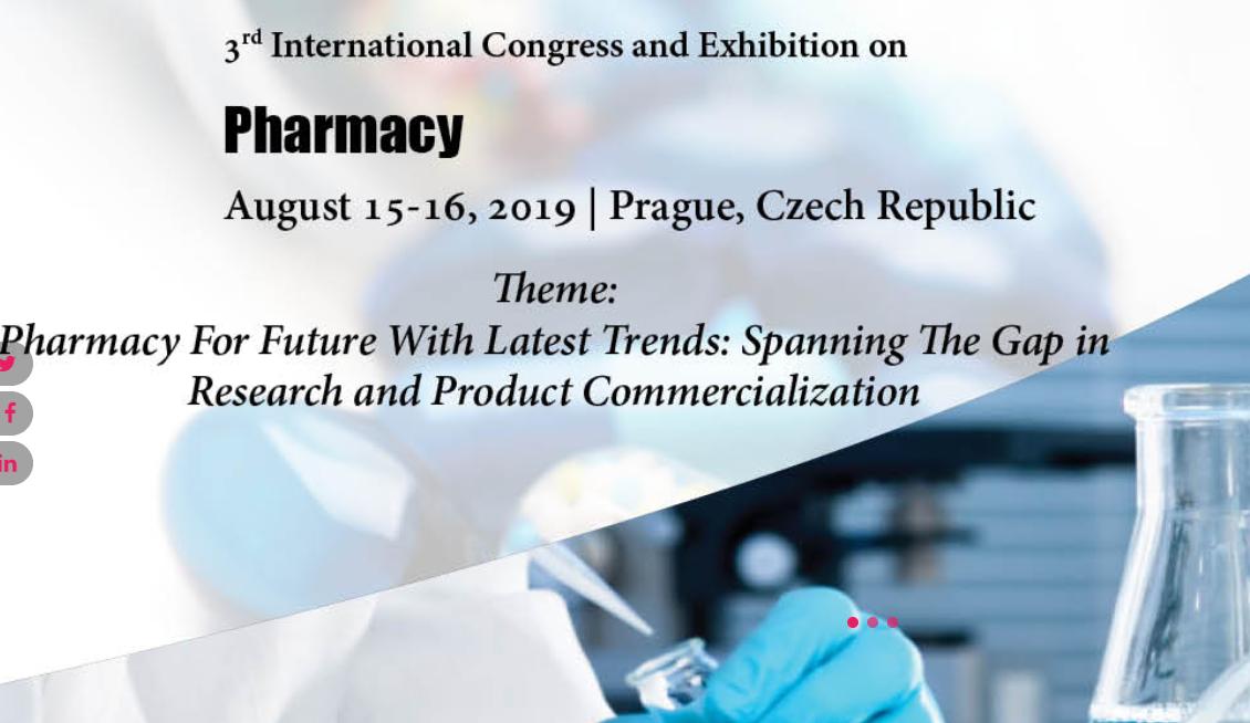 International Congress and Exhibition on Pharmacy - Kongresova 1655/1 140 69 Praha 4 Prague, Czech Republic