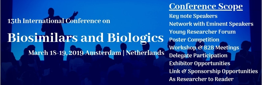 13th International Conference on Biologics and Biosimilars - Amsterdam, Netherlands