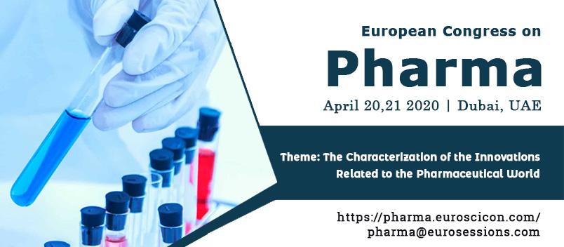 European Congress on Pharma 2020 - Dubai, UAE