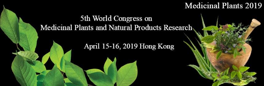 5th World Congress on  Medicinal Plants and Natural Products Research - Hong Kong, China