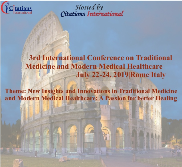 International Conference on Traditional Medicine and Modern Medical Healthcare - Ostia Antica Park Hotel, Viale dei Romagnoli, 1041/a, 00119 Ostia Antica, Roma RM, Italy